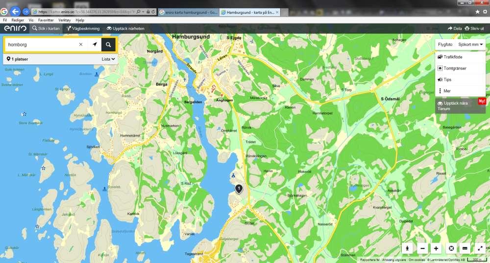 hamburgsund kart Hornbslott